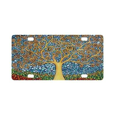 Best Design Awesome Tree of Life Aluminum Car Metal License Plate for