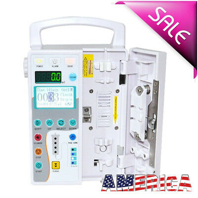 Medical Infusion Pump Iv Fluid Equipment With Audible And Visual Alarm Us Ship