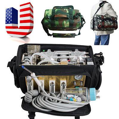 Usa Backpack Portable Dental Turbine Unit Air Compressor Suction Triplex Syringe