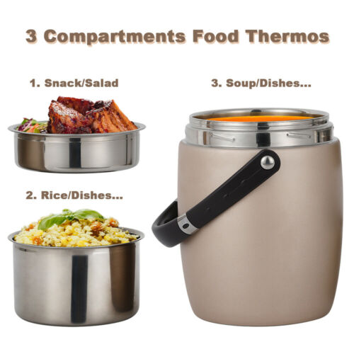 Hot Food Thermos 2L Stainless Steel Vacuum Insulated Thermal