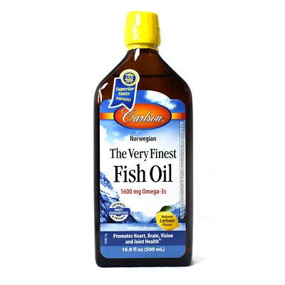 - The Very Finest Norwegian Fish Oil Lemon Flavor - 16.9 oz