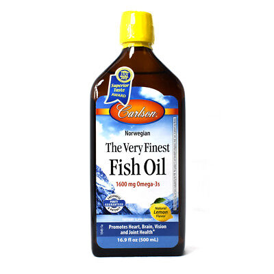 Carlson The Very Finest Norwegian Fish Oil Lemon Flavor -...