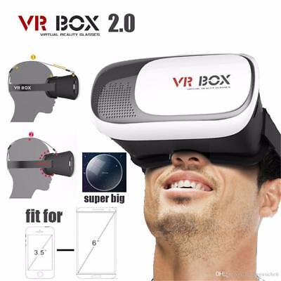 VR Box 2.0 Google Cardboard Virtual Reality 3D Glasses 2nd Gen Headset Remote US