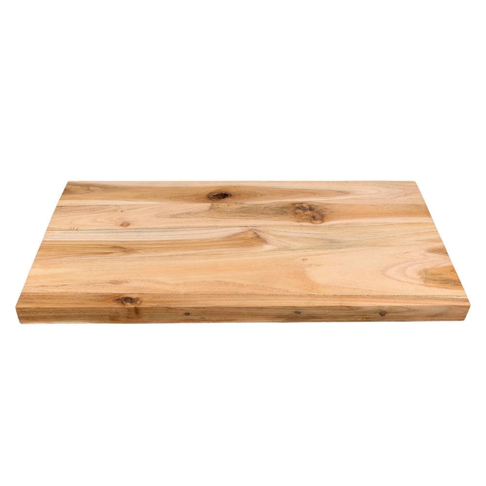 wohnfreuden Teakholz Waschtischplatte Gr. M ca. 80cm Unterschrank Holz Platte