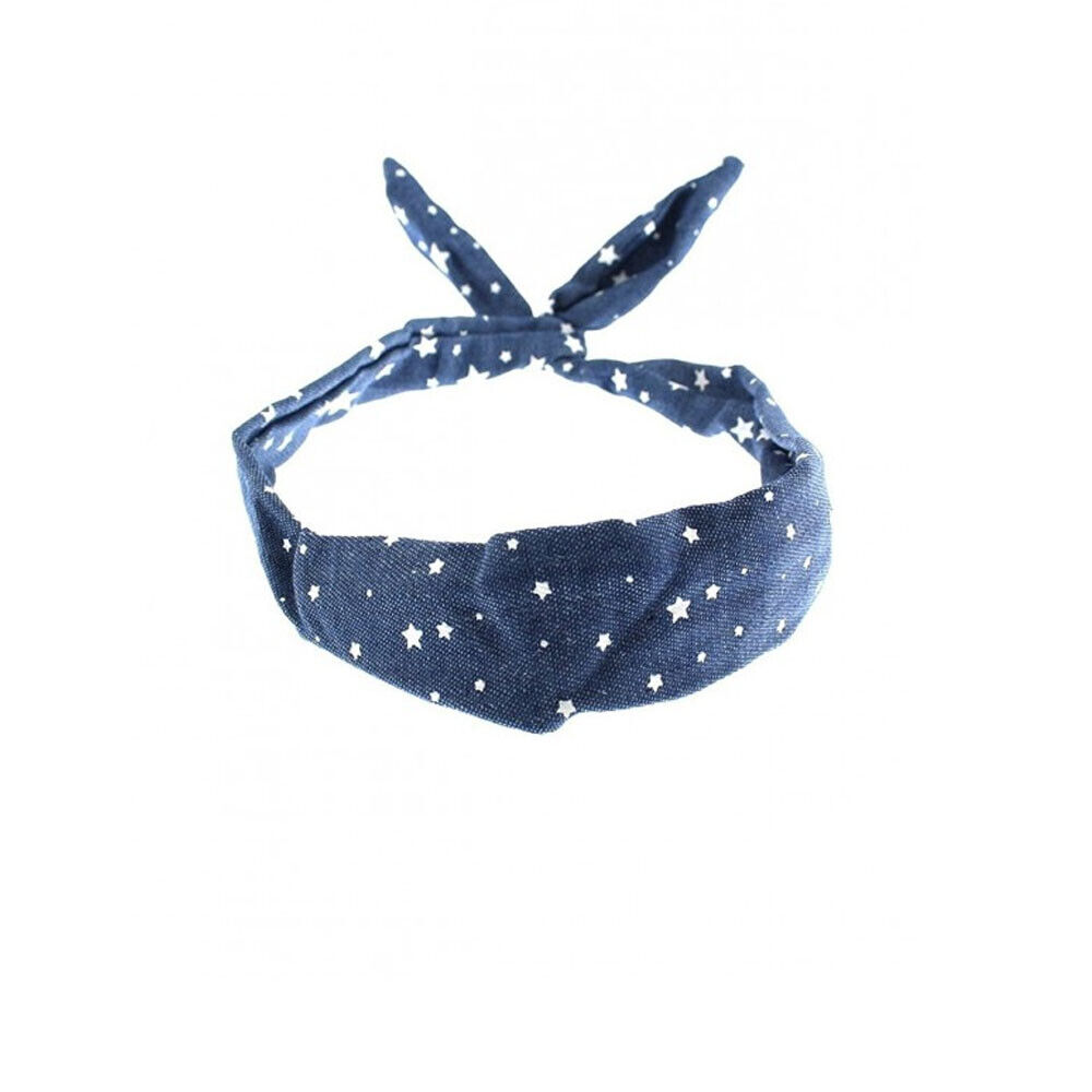 Draht Haarband Stirnband Kopfschmuck Haarband Dame Denim Stern Rockabilly Band