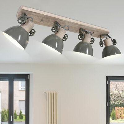 Vintage Luz Techo Foco Reflector Barra Ajustable Madera Lámpara Salón Habitación