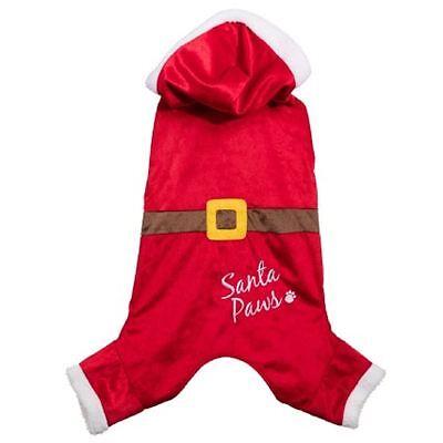 Christmas Santa Paws Pet Dog Puppy Festive Outfit Jacket Coat (Santa Paws Dog Coat)