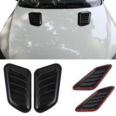2x Auto Car Decorative Air Flow Intake Scoop Turbo Bonnet Vent Cover Hood Fender