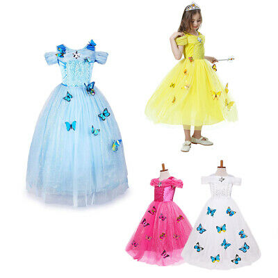 Butterfly Costume For Girl (Kid Girls Cinderella Princess Butterfly Party Dress Sandy Cosplay)