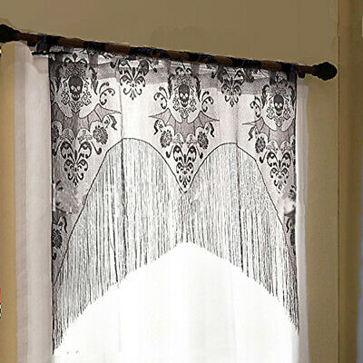 Halloween Ghost Lace Curtain Window Panel Party Background Wall Drape Room Decor - Windows Halloween Backgrounds