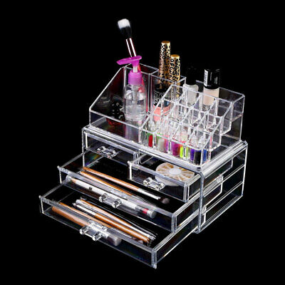 Hot 4 Drawers Integrated Acrylic Makeup Case Cosmetics Organizer Transparent