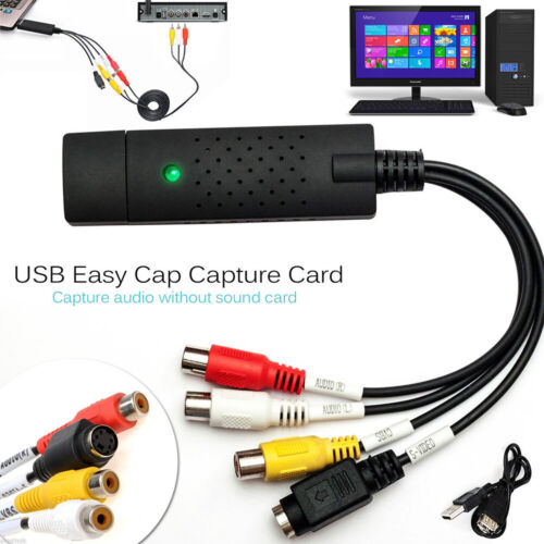 Easycap USB 2.0 Audio TV Video VHS to DVD PC HDD Converter A