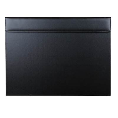 18x14 Leather Desk Pad A3 Protector Writing Mat With Paper Clip Board Black
