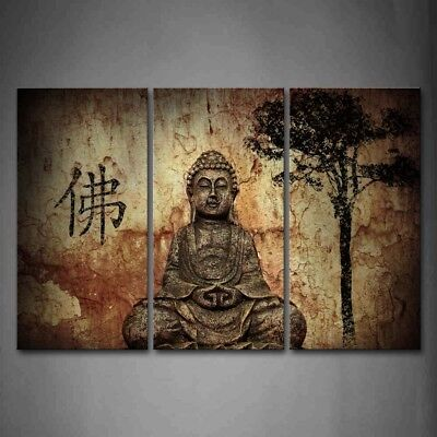 Framed Buddha Figure Wall Art Painting Pictures Canvas Print Religion Picture (Framed Pop Art)