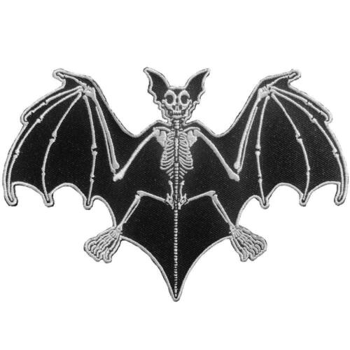 Vampire Bat Skeleton Patch Iron On Horror Movie Monster Goth Collectible Gift