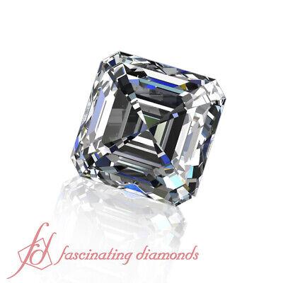 GIA Certified Eye Clean Loose Diamond - 1/2 Carat Asscher Cut Real Diamond VVS1