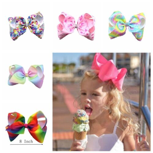 Haarschmuck 8 INCH BABY BOWS BOUTIQUE HAIR CLIP ALLIGATOR CLIPS GROSGRAIN RIBBON BOW GIRL UK
