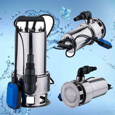 Sewage Pump 1.5hp 4300gph Pool Pond Flood Submersible Water Pump 1100w High Powe