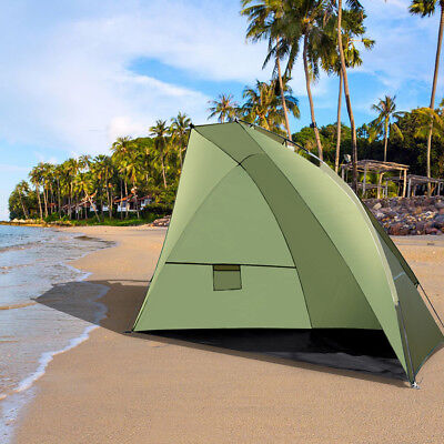 2-3 Person Portable Sun UV Shelter Beach Shade Tent Canopy Camping Outdoor Green