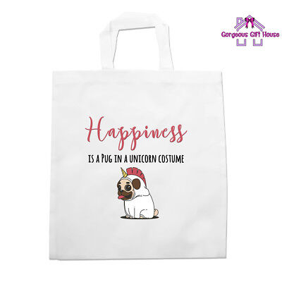 Pug In A Unicorn Costume Tote Bag, Funny Bag, Joke Present, Dog Lover Gift - Dog In A Costume