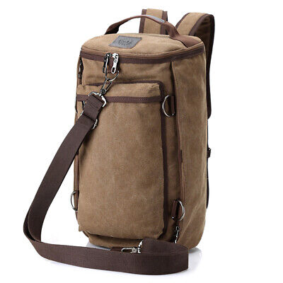 Men's Vintage Canvas Backpack Rucksack Shoulder Travel Camping Laptop Bag 35L