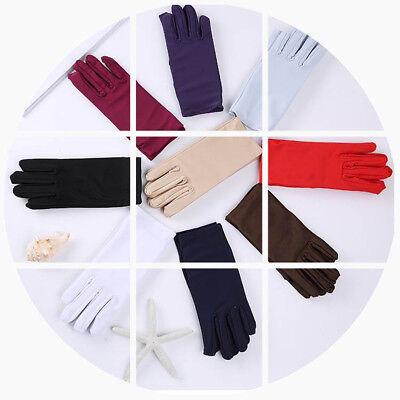 Beautiful Wrist Length Short Bridal Satin Gloves In Assorted Colors for Bride US - Short Satin Gloves