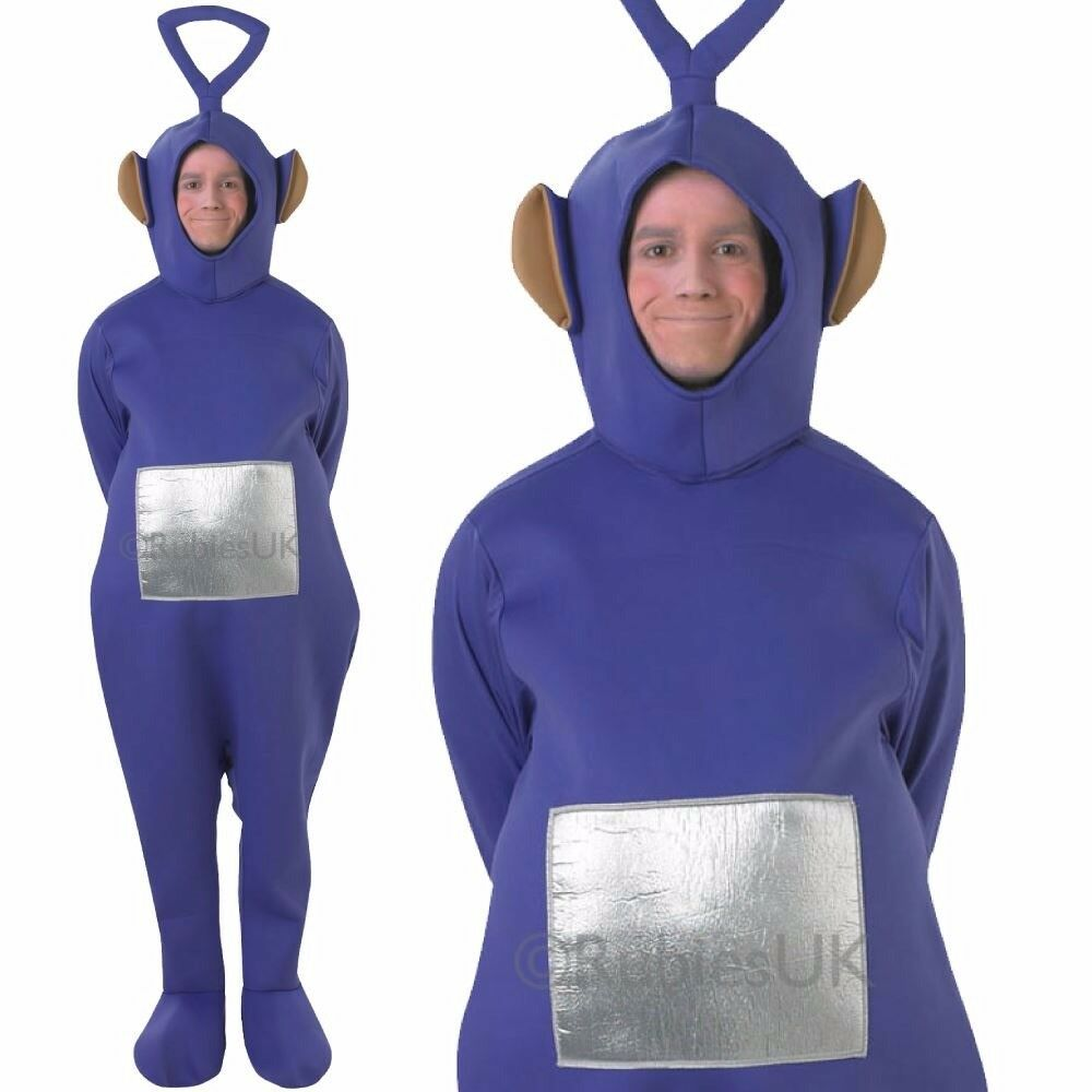 Licensed Adult Teletubbies Dipsy Fancy Dress Costume TV Cartoon Stag ...