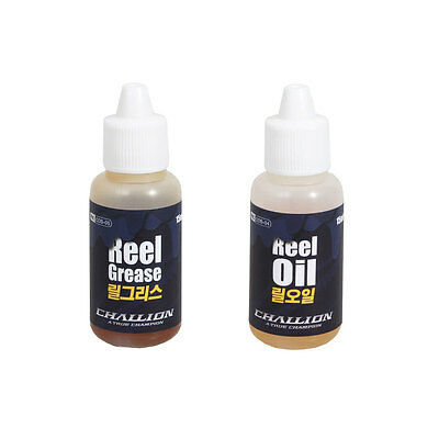 New Challion Fishing Reel Oil and Grease Set 1/2oz Reels Oiler Greaser All Fit