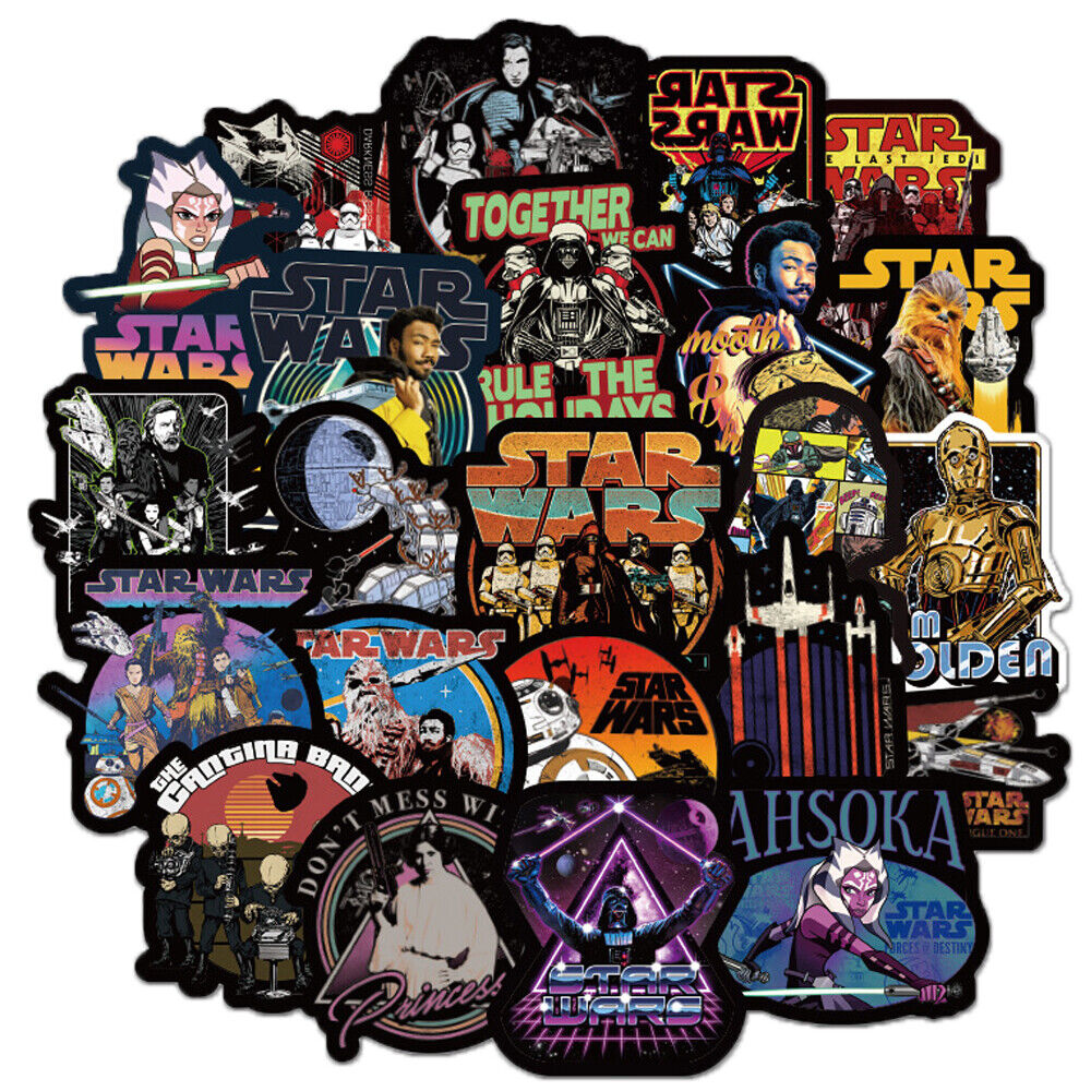 50pcs Lot Star Wars Stickers Bomb Decal Vinyl For Car Skateboard Laptop Luggage