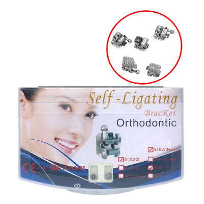 5 Packs Dental Orthodontic Active Self-ligating Brackets Roth 022 345 With Tool