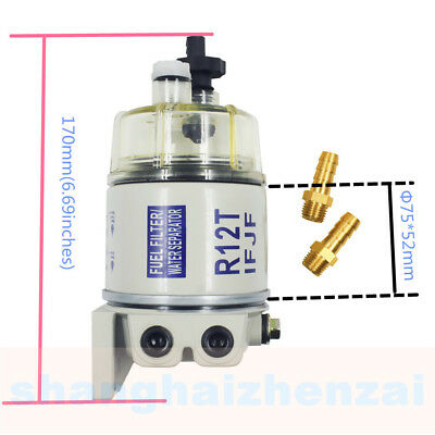 (Fuel Filter/water Separator Replacement For Racor R12t With Fittings)