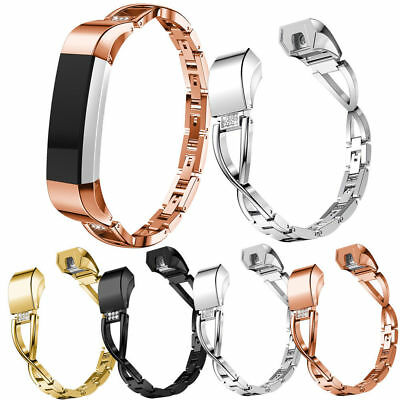 Replace For Fitbit charge 2 2HR Wristband Watch Bracelet Bling Metal Wrist