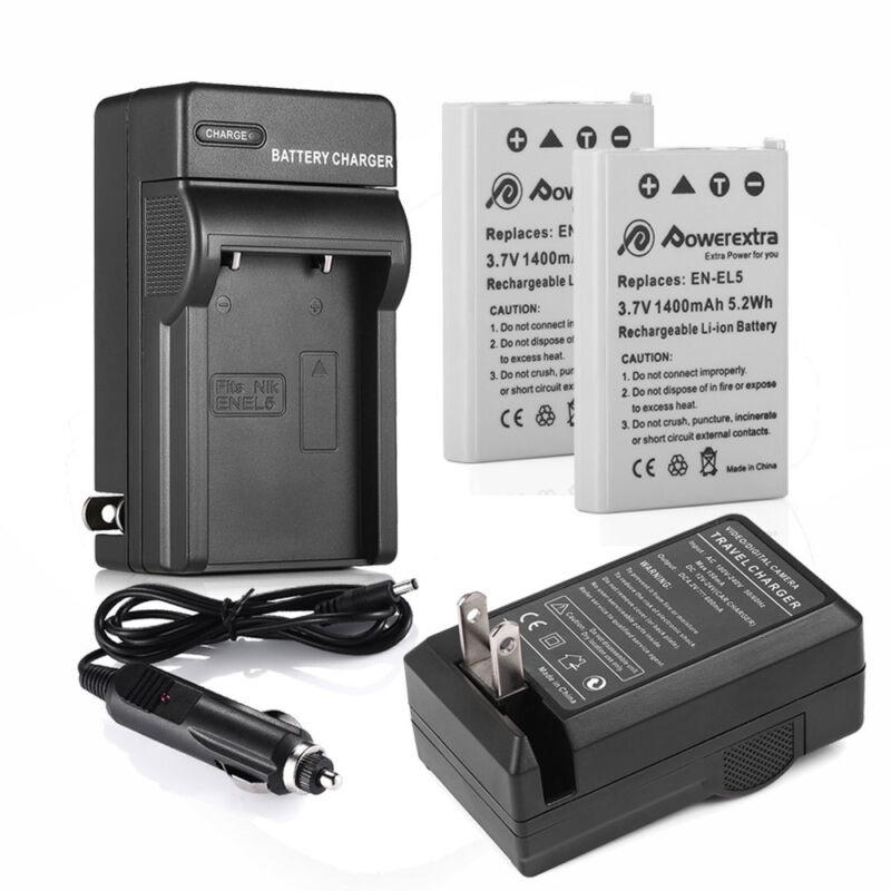EN-EL5 Battery / Charger for Nikon Coolpix P500 P510 P520 P530 P80 P90 P100