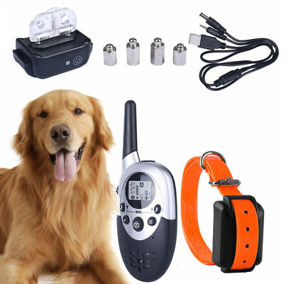 1000M Rechargeable Remote Yard Waterproof Shock Training Collar for Pet Dog BO