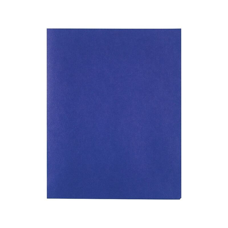 Staples School Grade 2 Pocket Folder Blue 25/Box 578490