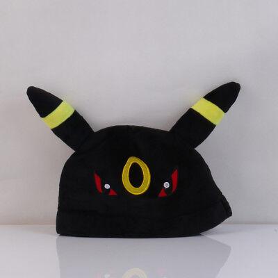 New Pokemon Plush Umbreon Hat Soft Warm Cap Hat