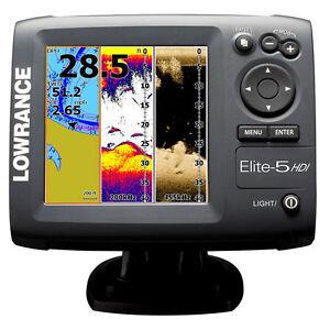 Lowrance-Elite-5-HDI-Fishfinder-Marine-GPS-Chartplotter-83-200-455-800-11145-001