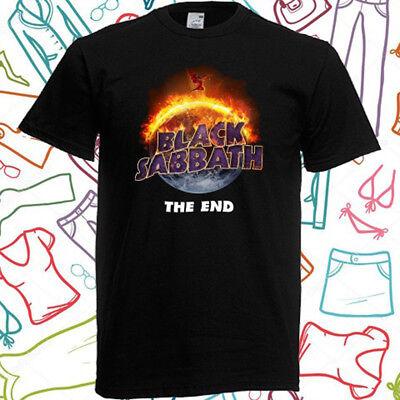 Black Sabbath The End Tour Men's Black T-Shirt Size S to 3XL