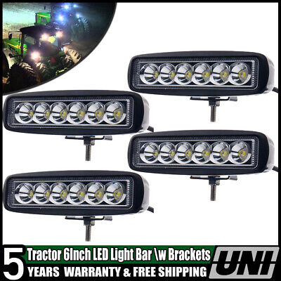 6 John Deere Massey Ferguson Ford International Tractor Fender Led Light Flood