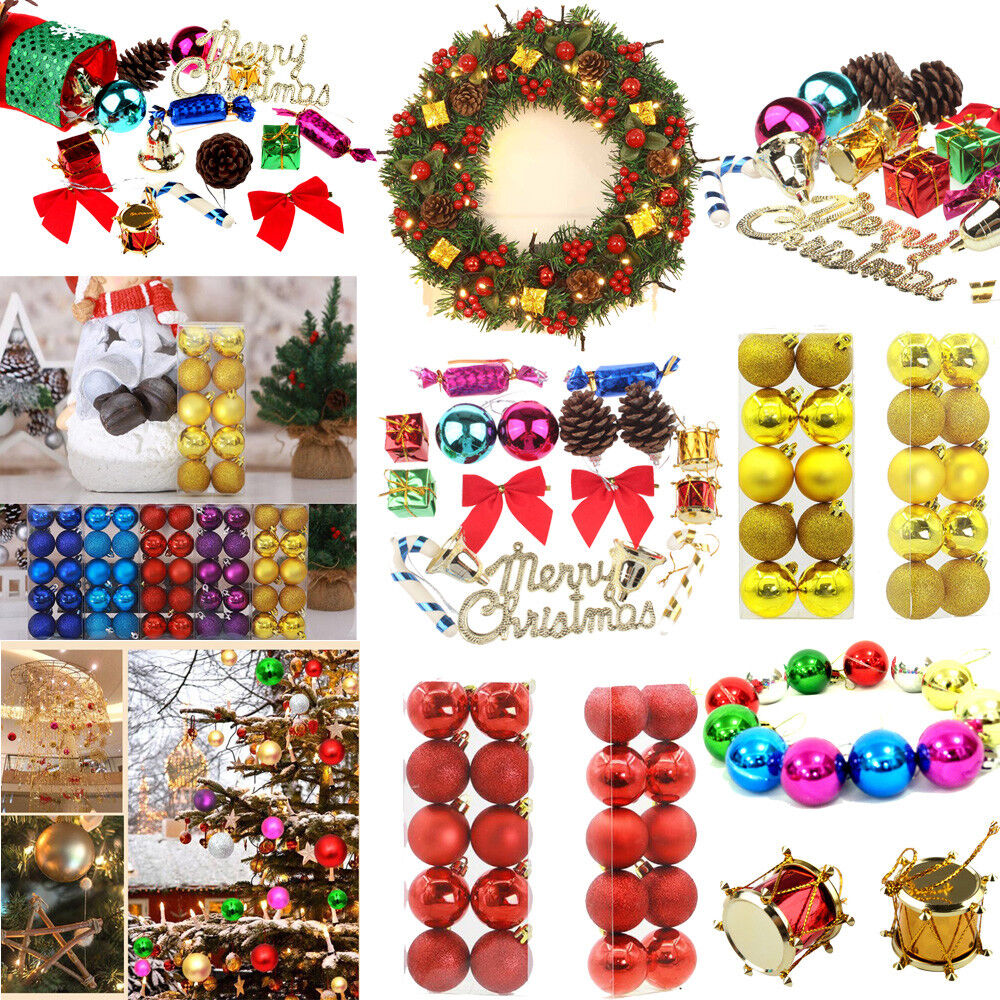 Christmas Balls Baubles Ornaments Xmas Tree Hanging Decoration Party Decor