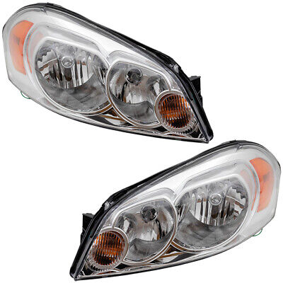 Pair Set Halogen Headlights w/Housing for Chevrolet Impala & Limited Monte Carlo