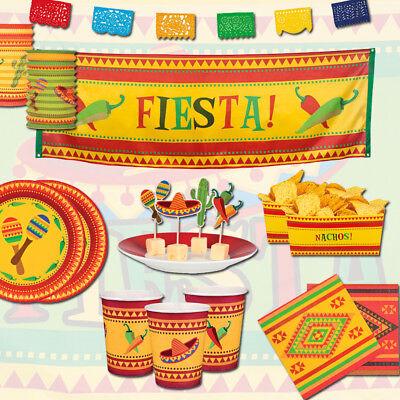 Mexiko Party Fiesta, Dekoration Teller Becher Girlanden & mehr für tolle Feste