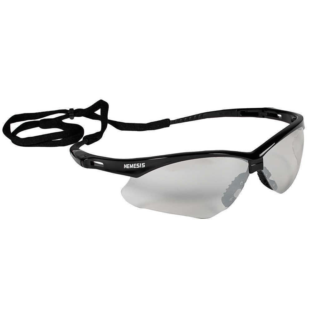 Jackson Nemesis V30 Safety Glasses/Sunglasses Various Colors & Quantities  25685 - Black Frame/ I-O Mirror Lens