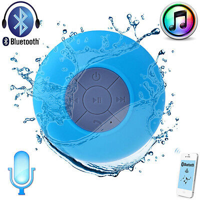 Mini Waterproof Wireless Bluetooth Speaker Shower Hands-free Suction In-car Mic  on Rummage