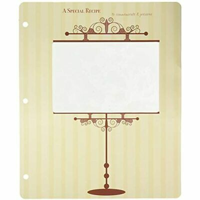 Meadowsweet Kitchens Archival 4 X 6 Recipe Card Pages For 3 Ring Binders &