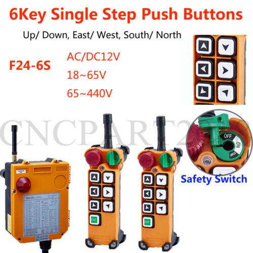 6 Botones De Radio Control Remoto Inal U00e1mbrico Sobrecarga Gr U00faa Industrial Controlador F24