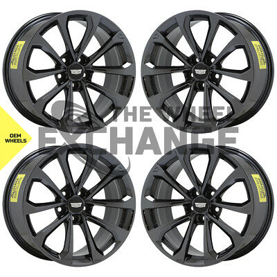 19x9.5 19x10 Cadillac CTS-V Black Chrome wheels rims Factory OEM GM set 4 4752
