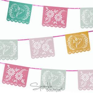 FLORAL-FIESTA-MEXICANA-BUNTING-Summer-Garden-Party-BBQ-Luau-Decoration-Banner