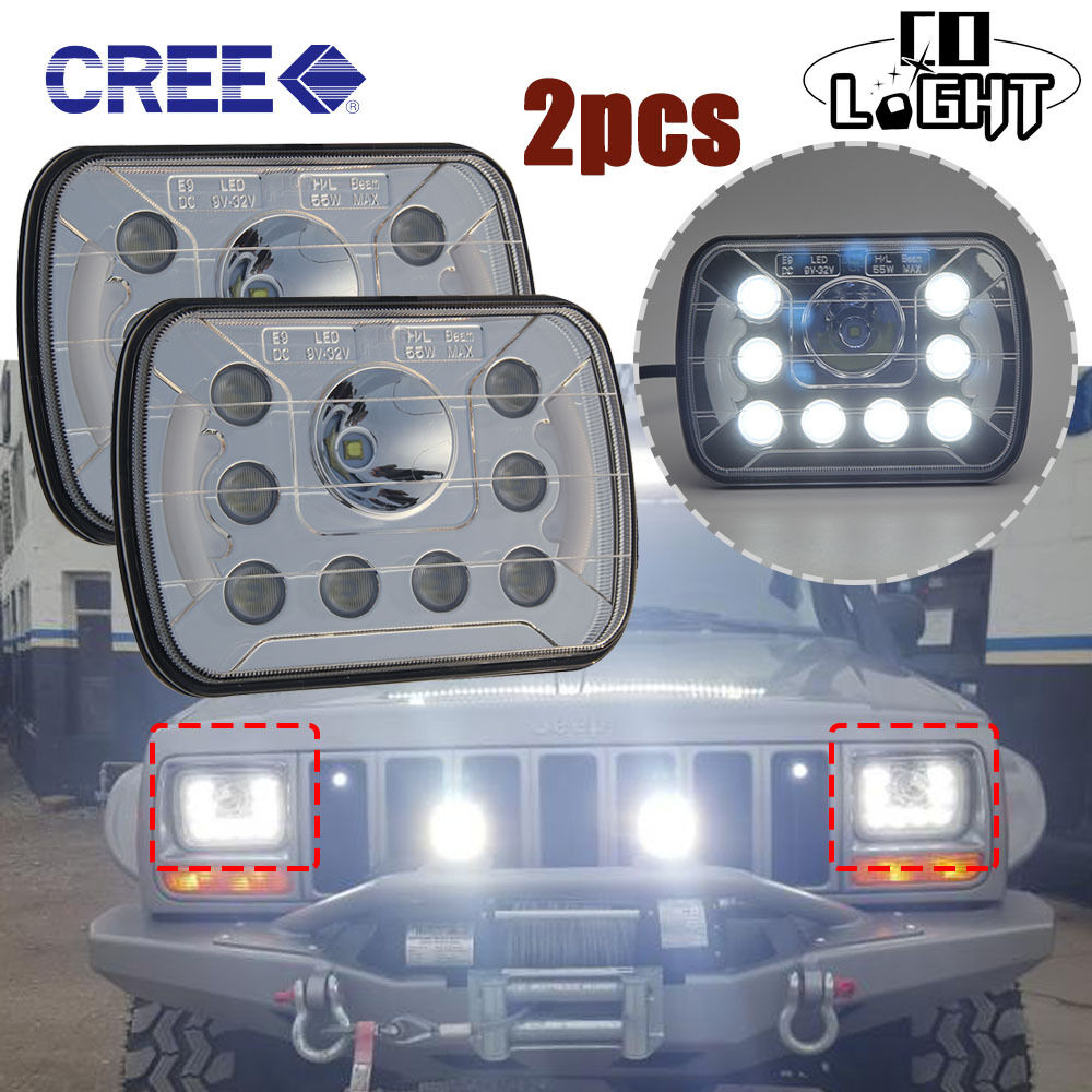 7x6 led headlight bulbs for jeep cherokee xj ford f-100 chevy