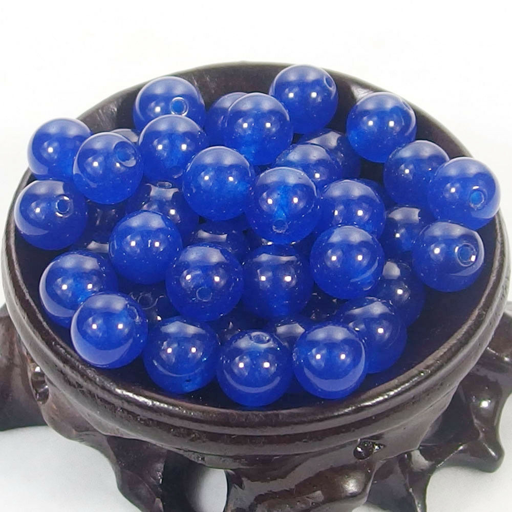 Bulk Gemstones I natural spacer stone beads 4mm 6mm 8mm 10mm 12mm jewelry design royal blue jade